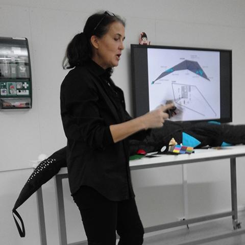 Birgitta shows Polly Ocean at Khio
