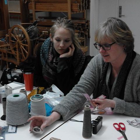 E-textile workshop at the textile department